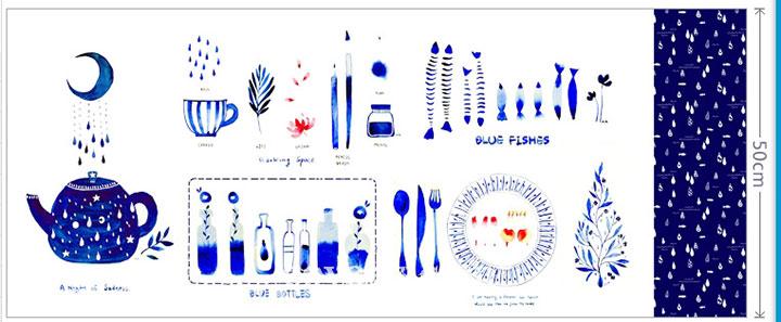 kích thước vải blue water color