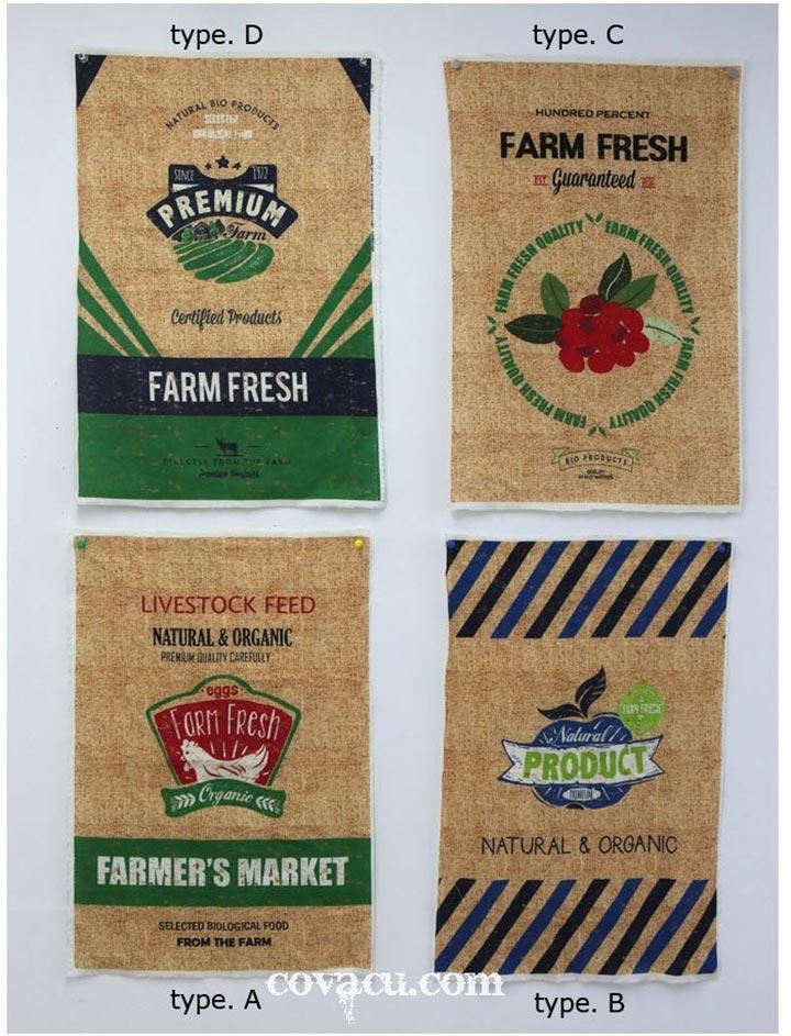 Mẫu túi vải vintage farm