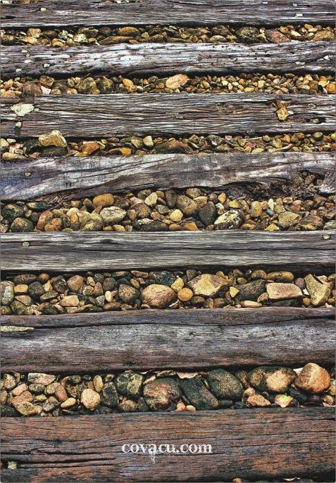 Vải nền chụp ảnh 3D phong cách gỗ đá