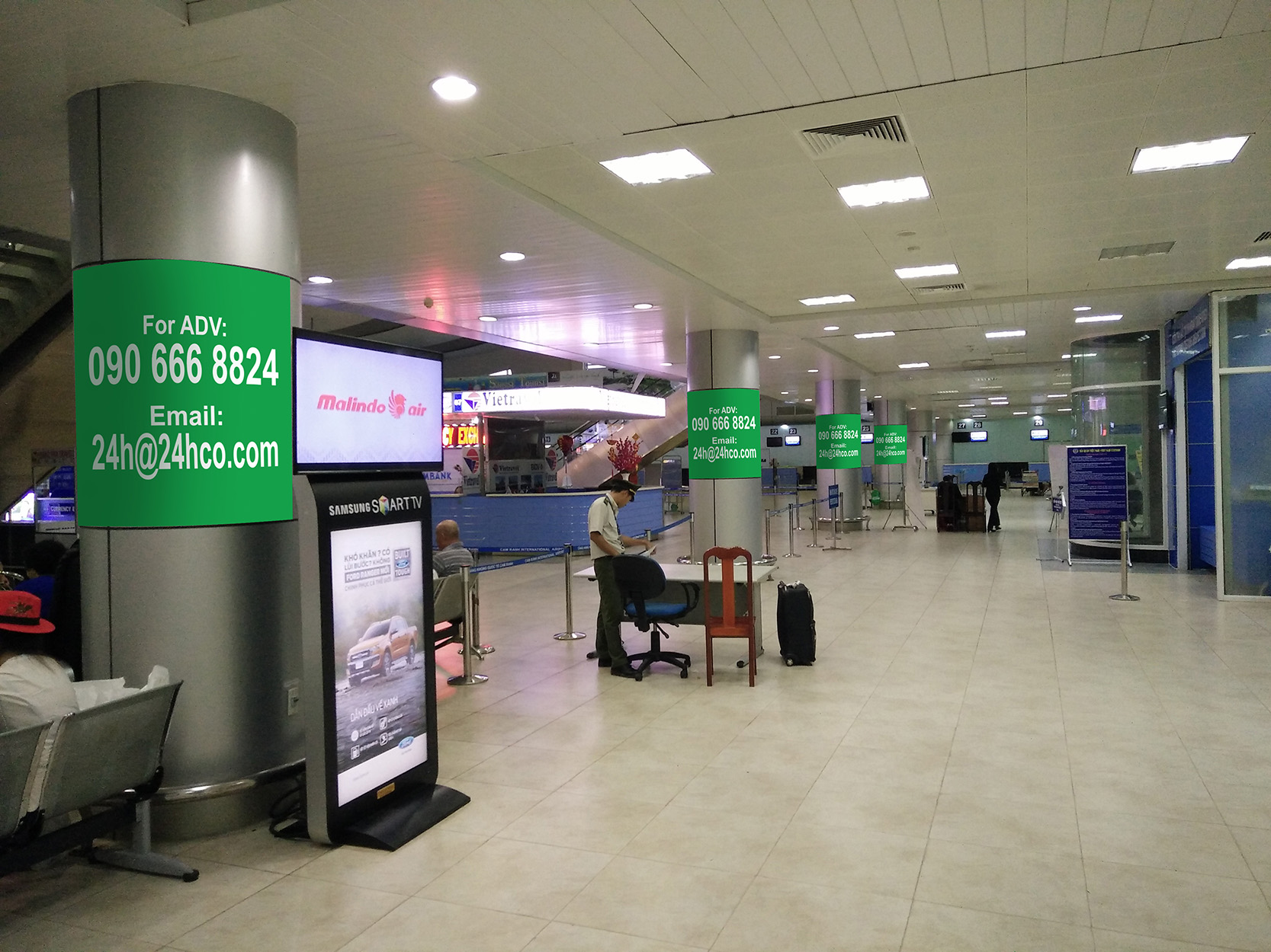 Banner Advertising in domestic gate Cam Ranh Airport