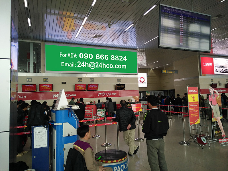 Digital Big LED Screen Media in Noi Bai Airport