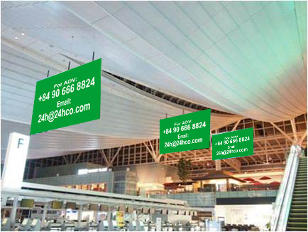 Advertising Banner Check - in Lobby
