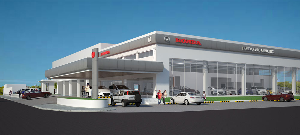 B o gi thi t k n i th t showroom showroom t o c i for Car showroom exterior design