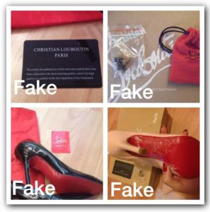 Giày Christian Louboutin không có thẻ bảo hành