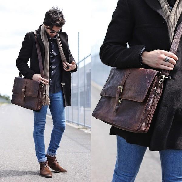 Túi da nam hàng hiệu, túi laptop đến từ Ý