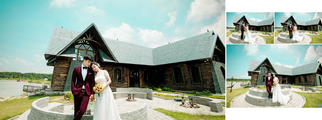 Chụp ảnh cưới ở phim trường Smiley Ville Đông Anh 6