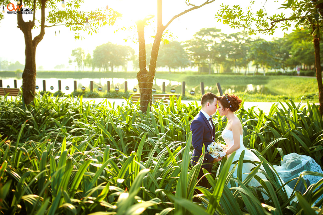 Sở hữu bộ album ảnh cưới đẹp lung linh tại Công Viên Yên Sở