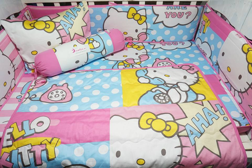 CHĂN GA GỐI HELLO KITTY 05