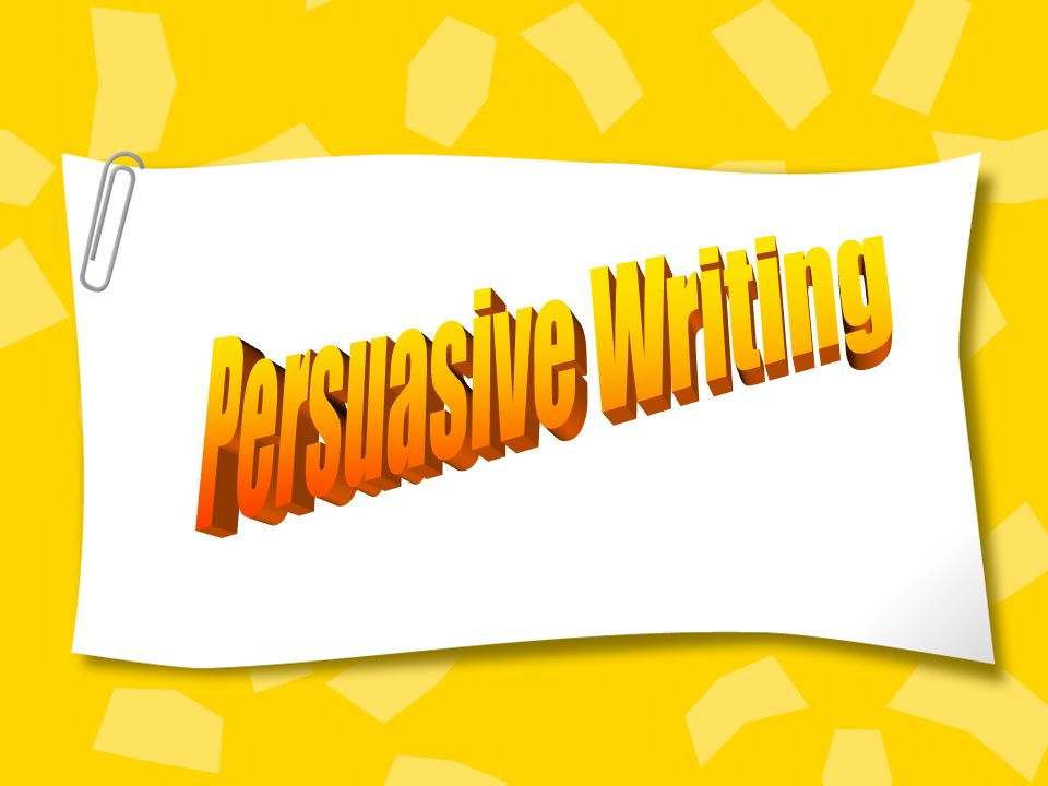 persuasive papers