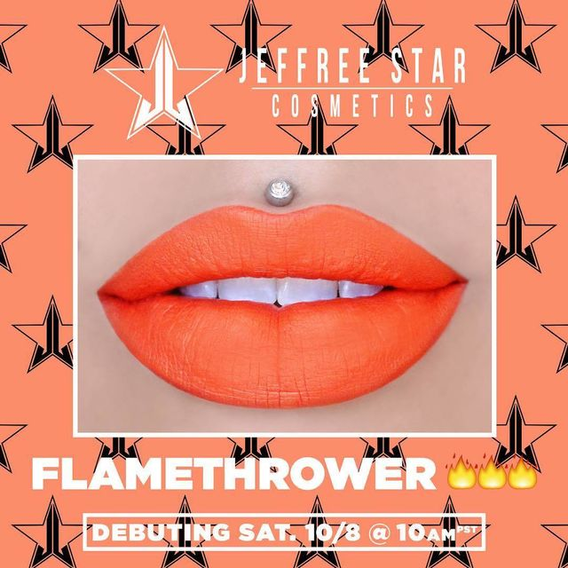 SON JEFFREE STAR VELOUR LIQUID LIPSTICK - MÀU FLAMETHROWER