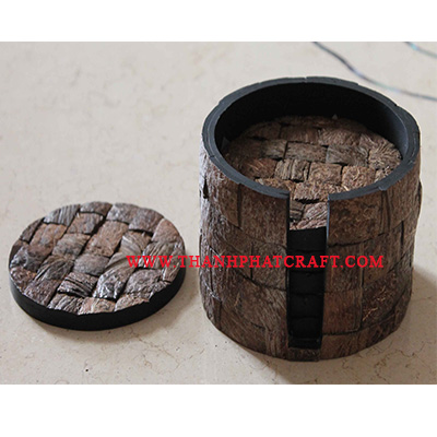 coconut shell  coaster set