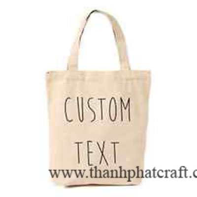 Custom Text Canvas Bag