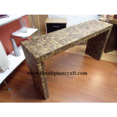 Table with coconut shell