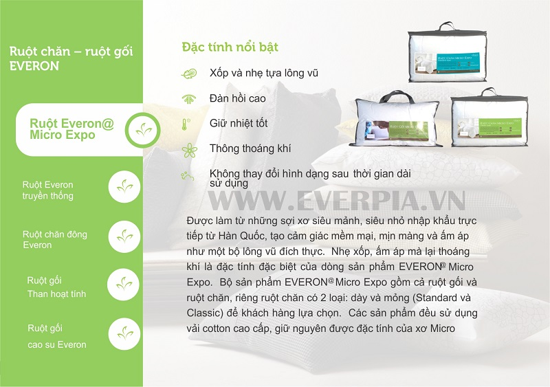 Ruột Chăn Everon Micro Expo Standard (loại dày)
