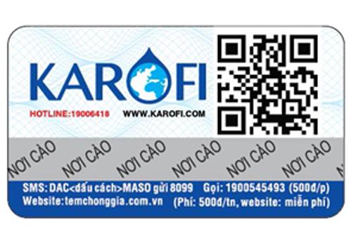 Kết quả hình ảnh cho tem chống hàng giả karofi