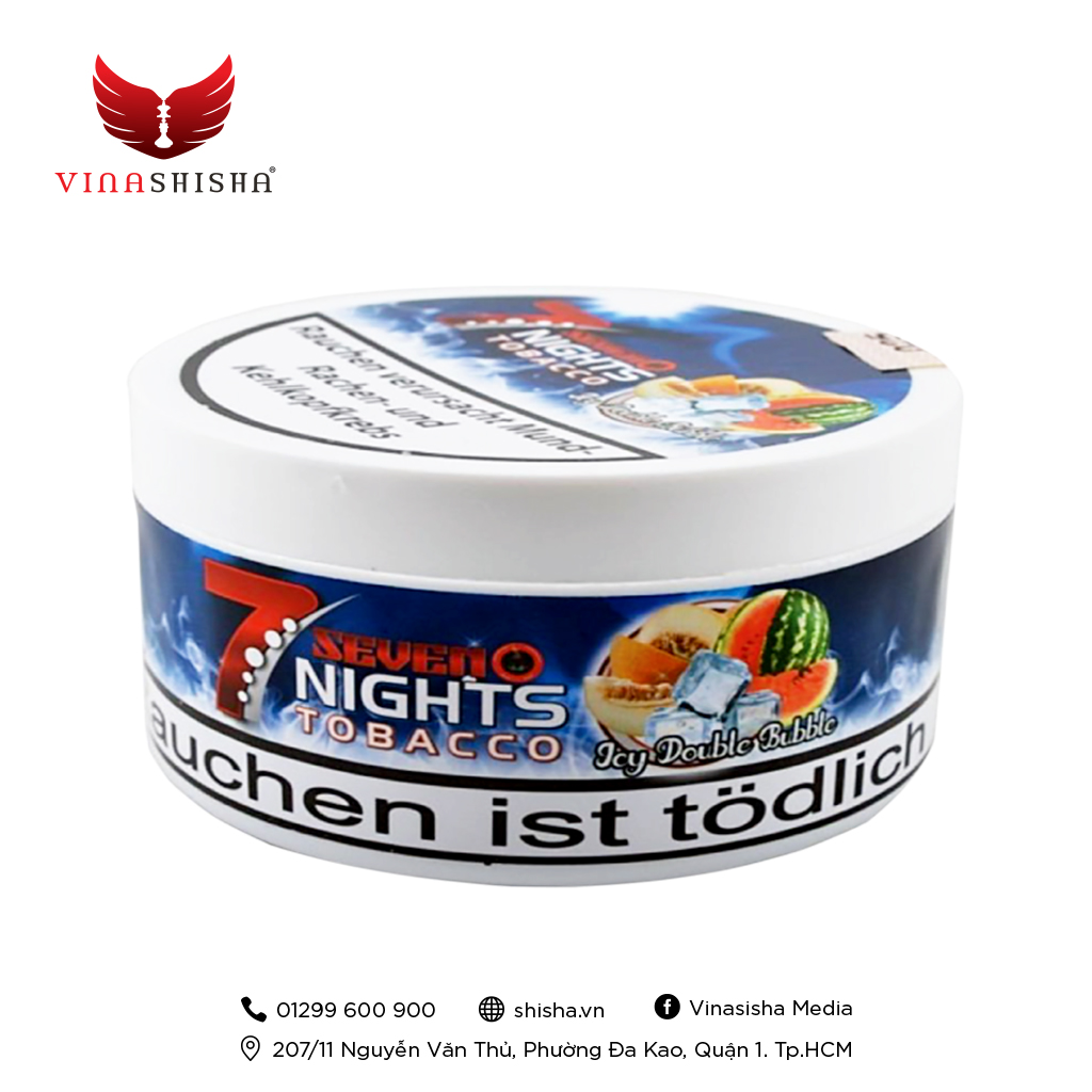 7 Nights Tobacco 200g - Icy Double Bubble