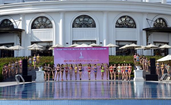 Các thí sinh tham dự vòng chung kết Người đẹp Hạ Long