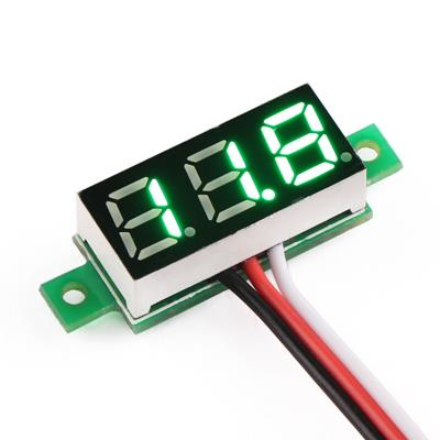 DC digital voltmeter 0.36-inch LED Green 3 wire