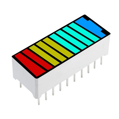 LED Battery 10 Segment 4 Color Display-A