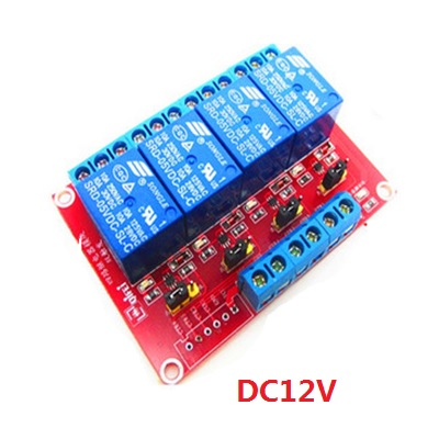 Module 4 Relay 12V  high and low level dual trigger
