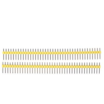 1x40 Pin 2.54mm DIP Straight Yellow color