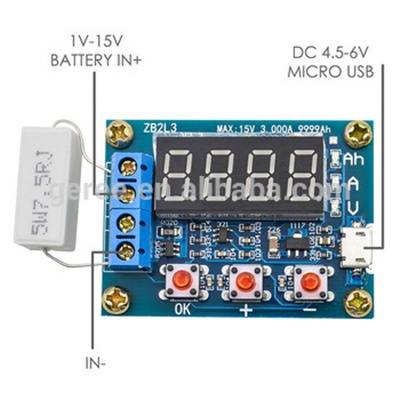 ZB2L3 Li-ion Lithium Battery Capacity Tester