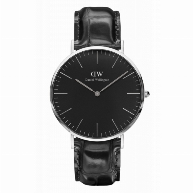 DANIEL WELLINGTON CLASSIC BLACK READING DW00100135 SILVER
