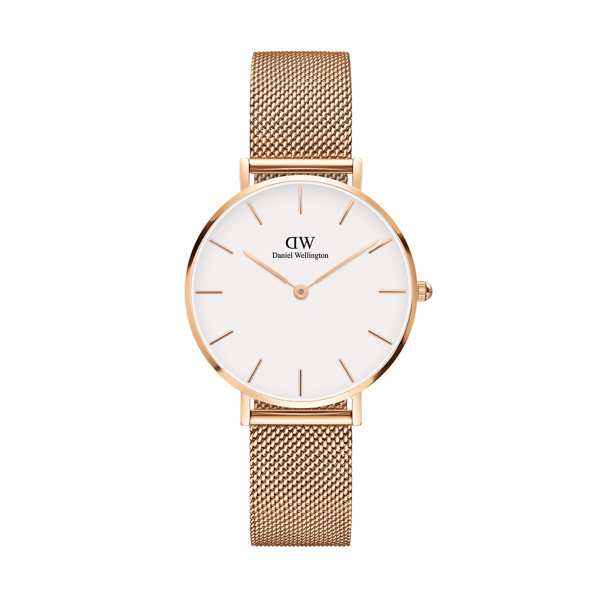 DANIEL WELLINGTON CLASSIC BLACK PETITE MELROSE ROSE GOLD (DW00100161) 32MM