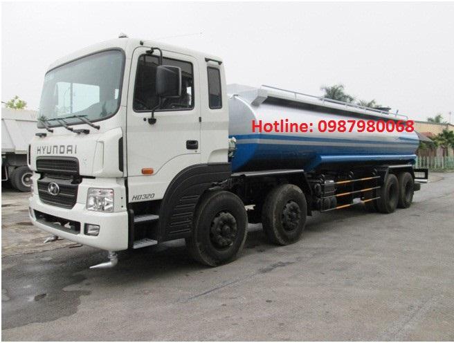 Xe chở nước rửa đường Hyundai HD320 – 17 khối