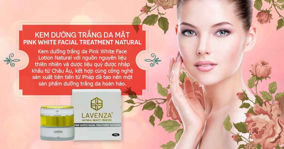 Kem Dưỡng Trắng Da MặtPink White Facial Treatment Natural