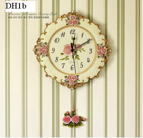Đồng hồ hoa, đồng hồ treo tượng họa tiết nổi hình hoa tinh tế bắt mắt