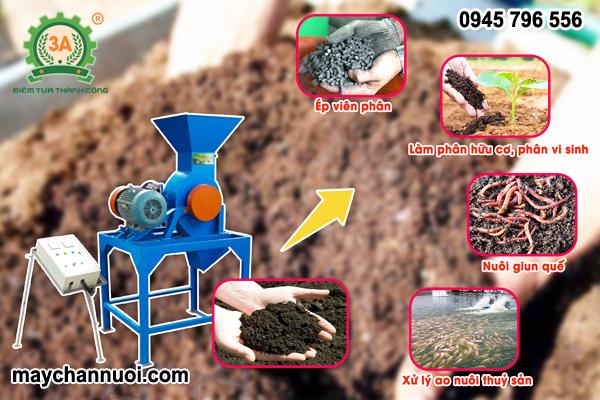 Máy nghiền phân bón hữu cơ