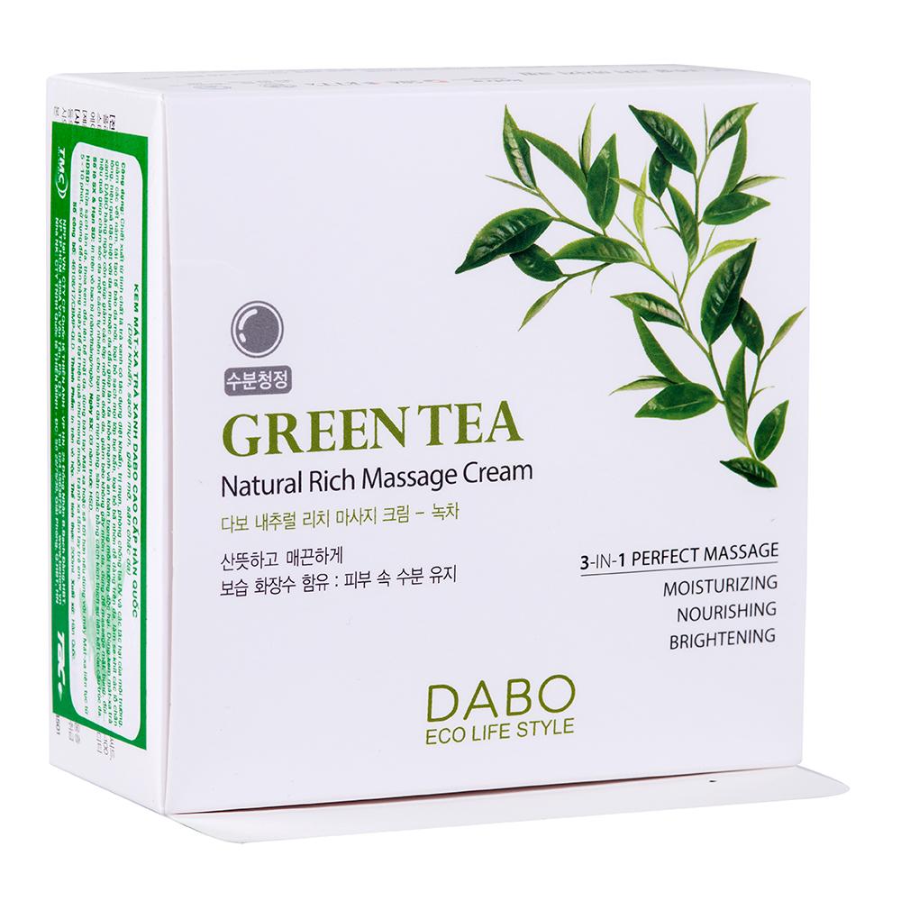Kem Massage Trà Xanh Hàn Quốc Dabo Green Tea (200ml) – Hàng Chính Hãng