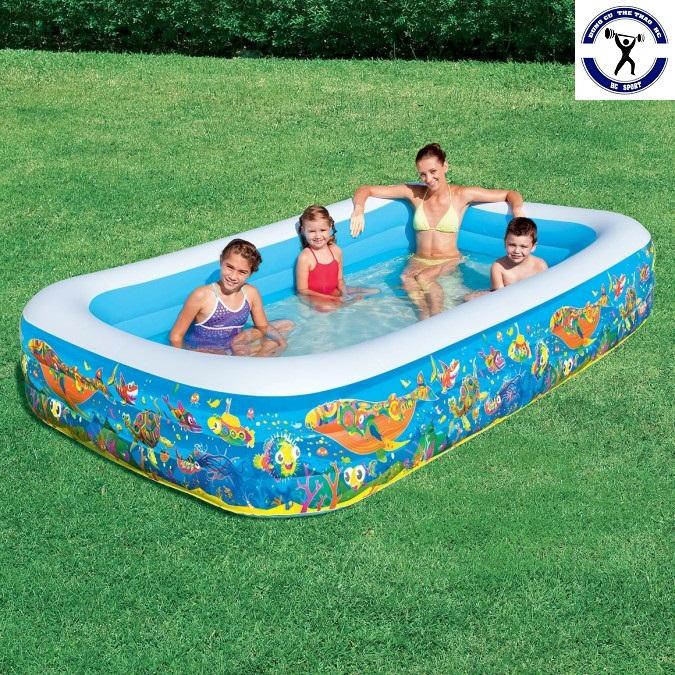 Bể bơi gia đình vuông cá 305x183x56 Bestway 54121