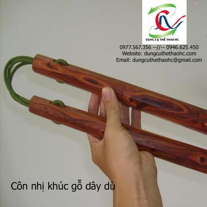 Hình thực tế côn nhị khúc gỗ