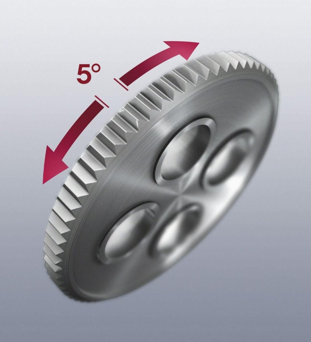 Cần lắc vặn với 72 răng, tay lắc vặn với mỗi góc vặn 5 độ, tay lắc vặn 1/4 inch Wera