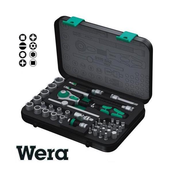 Bộ đầu tuýp Wera 1/4 inch, bộ đầu khẩu Wera 1/4 inch, bộ tuýp Wera 05003533001, bộ tuýp Wera 42 chi tiết,