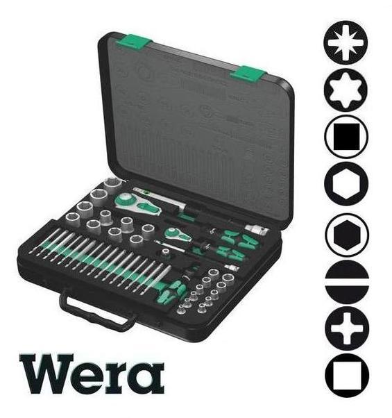 Bộ khẩu Wera 1/4 inch và 1/2 inch, bộ đầu khẩu Wera Đức 05160785001