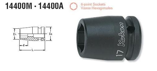 Dau khau Koken 1/2 inch, Koken 14400M, đầu khẩu cho lắp ráp