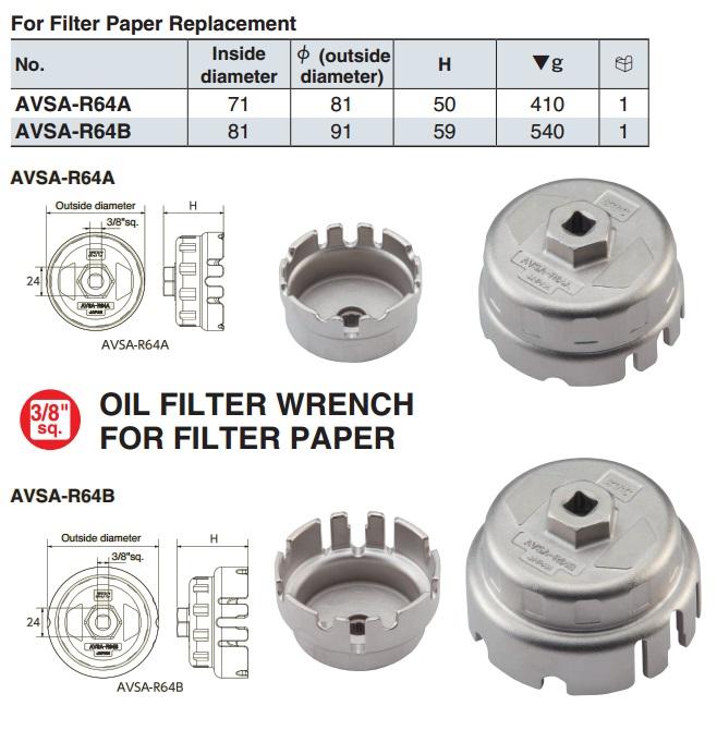 Bát tháo lọc giấy dùng trên Toyota, KTC AVSA-R64B, AVSA-R64A