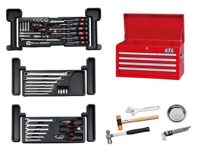 Bộ dụng cụ KTC SK36813X, bộ dụng cụ sửa xe máy, đồ nghề sửa chữa xe máy, đồ nghề KTC,