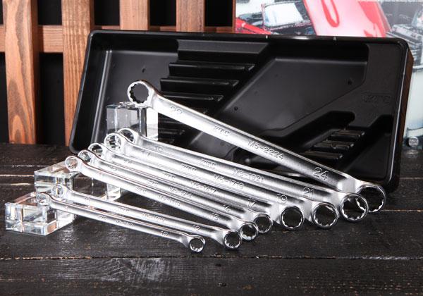 Bộ tròng 8 chiếc, KTC TM508, bộ tròng từ 8 đến 24mm