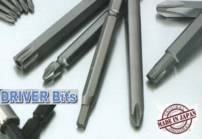 Đầu bits dùng cho súng vặn vít khí nén, đầu vặn vít, đầu bits hoa thị, đầu bits lục giác, đầu bits tô vít, BiX Nhật, BiX bits