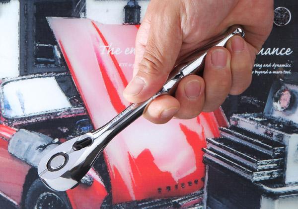 Tay siêt tự động loại 3/8 inch, tay cóc 3/8 inch, cần siết tự động, KTC BR3E, tay lắc vặn