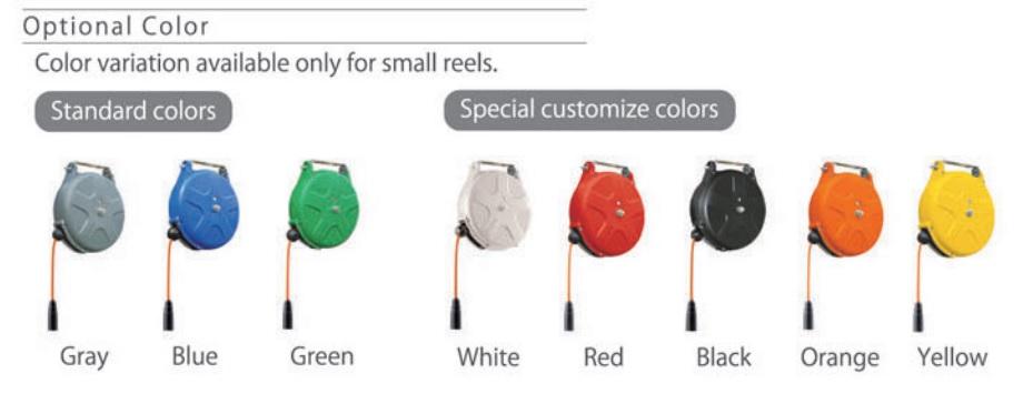 Màu sắc cho cuộn ống hơi, cuộn dây tự rút, cuộn dây khí