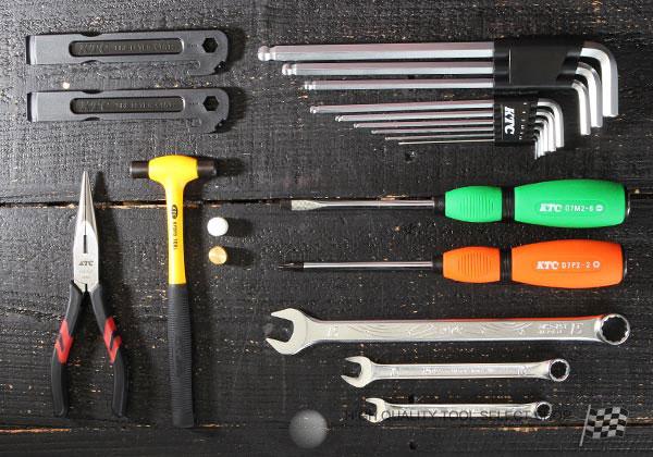 Bộ dụng cụ tháo lắp xe đạp, dụng cụ sửa xe đạp, cờ lê tròng tháo pedan, bộ dụng cụ sửa xe đạp nhập khẩu, KTC CTX316EM