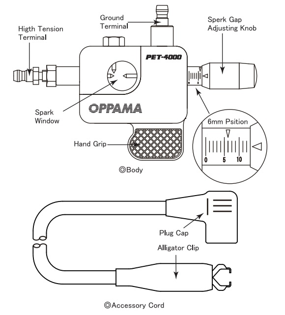thiết bị kiểm tra lửa, Oppama Nhật, Oppama PET4000,
