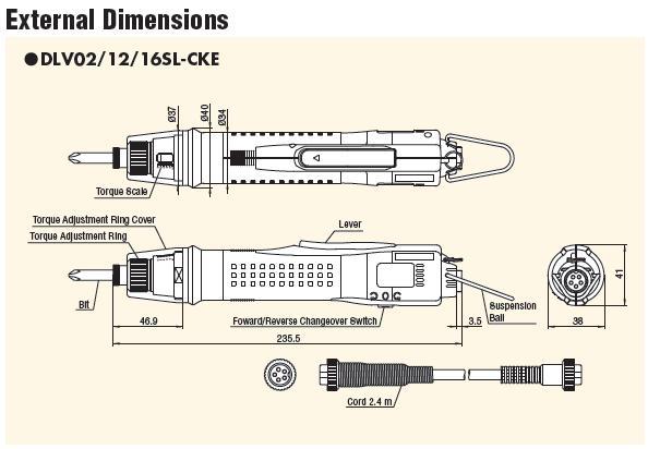 Kích thước tô vít lực Delvo, tô vít điện Delvo DLV12SL-CKE