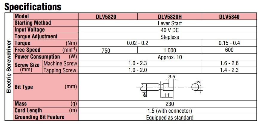 Delvo DLV5820H, tô vít điện dùng cho lắp ráp điện tử, tô vít điện Delvo,