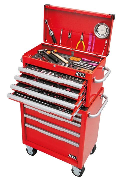 Bộ dụng cụ sửa chữa với xe dụng cụ 5 ngăn kéo, KTC EKW-1005, KTC EKR-1004